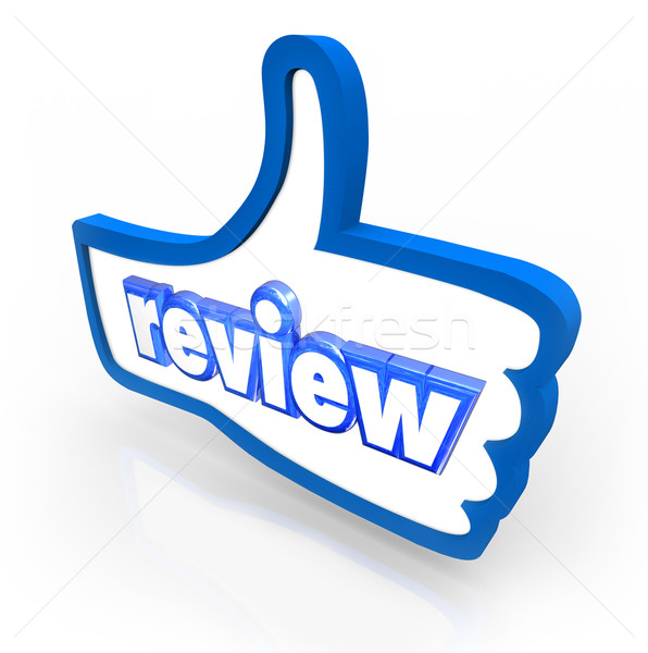 Stock photo: Review Word Thumbs Up Comment Rating Customer Feedback