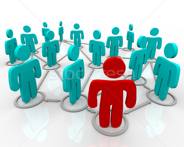 Stock photo: Social Network of Linked People
