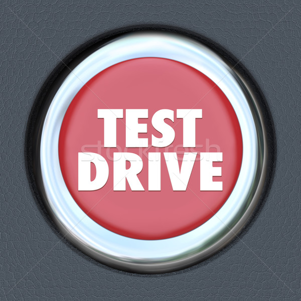 Test Drive Red Round Ignition Car Start Button Stock photo © iqoncept