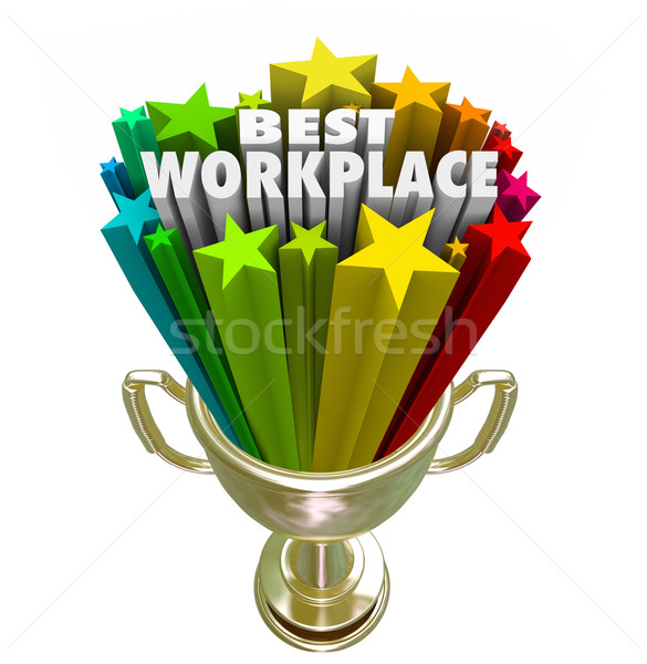 Best Workplace Employer Business Company Job Career Trophy Stock photo © iqoncept