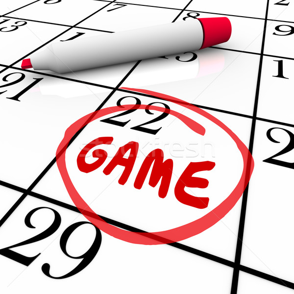Game Event Day Date Circled Calendar Remember Reminder Schedule Stock photo © iqoncept