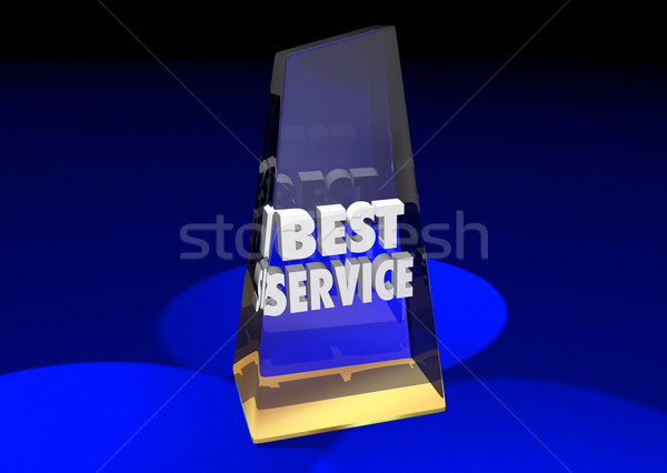 Best Service Award Top Rated Reviewed Business Product 3d Illust Stock photo © iqoncept