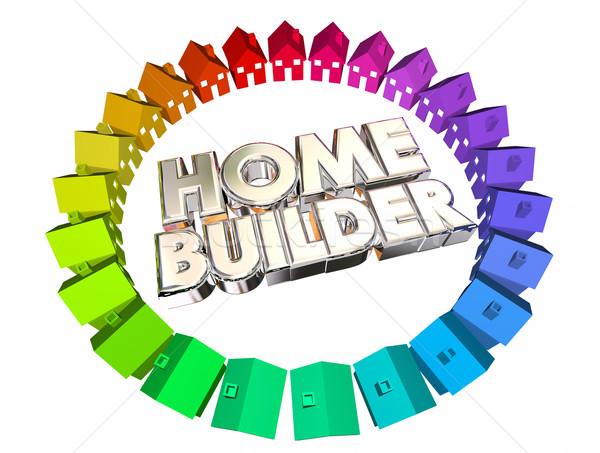 Home Builder Construction Developer Contractor 3d Illustration Stock photo © iqoncept