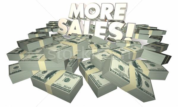 Meer verkoop verkopen succes geld woorden Stockfoto © iqoncept