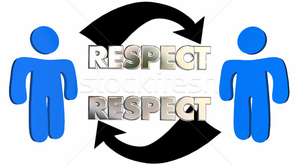 Respect People Arrows Mutual Shared Understanding 3d Illustratio Stock photo © iqoncept