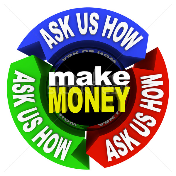 Make Money - Ask Us How Stock photo © iqoncept
