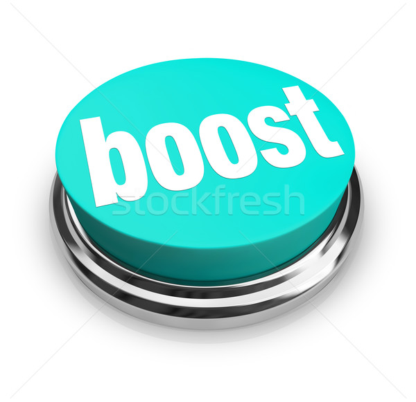 Boost - Blue Button Stock photo © iqoncept