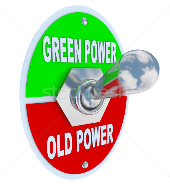 Green vs. Old Power - Energy Toggle Switch Stock photo © iqoncept