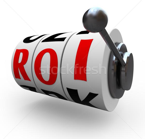 Roi terugkeren investering wielen risico Stockfoto © iqoncept