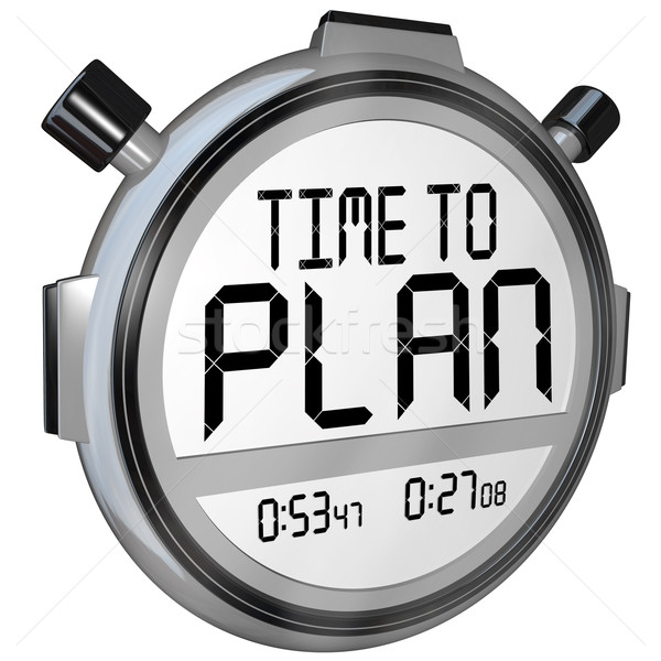 Tijd plan stopwatch timer woorden strategie Stockfoto © iqoncept