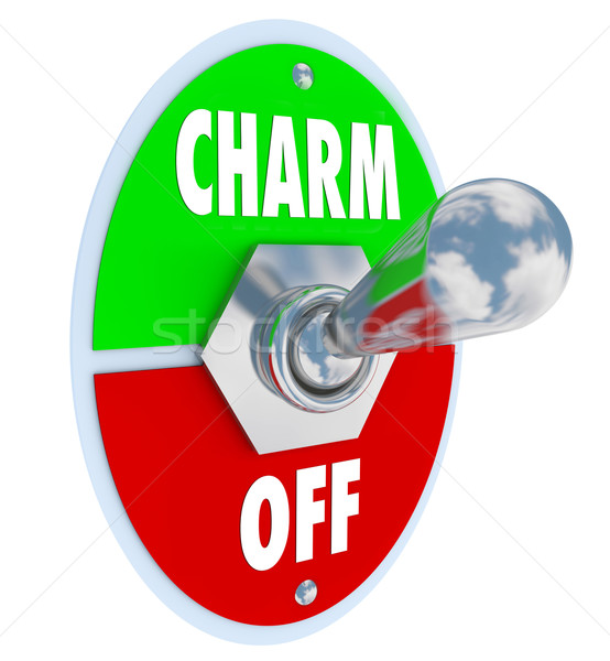 Turn on the Charm Toggle Switch Be Charismatic Stock photo © iqoncept