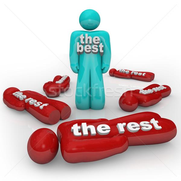 O melhor vs um vencedor sozinho uma pessoa Foto stock © iqoncept