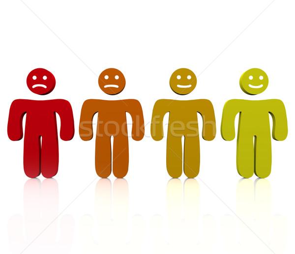 Range of Emotions - Mad to Happy Stock photo © iqoncept