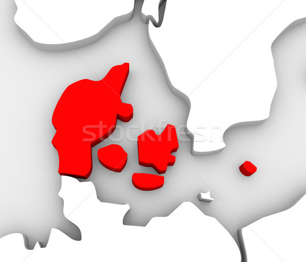 Denmark Country Abstract 3D Europe Map Scandinavia Stock photo © iqoncept
