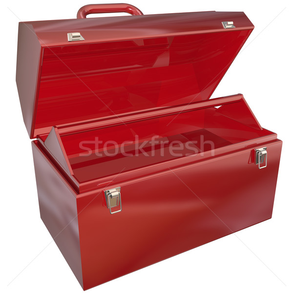 Empty Red Toolbox for Your Copy or Message Blank Copyspace Stock photo © iqoncept