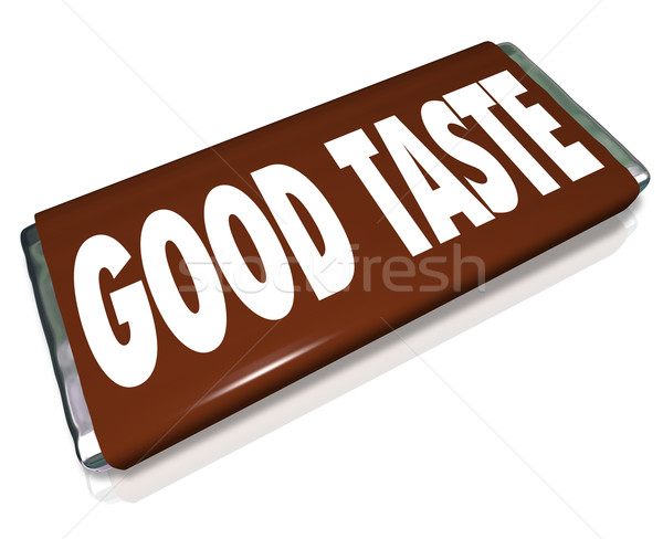 Good Taste Chocolate Candy Bar Wrapper Stock photo © iqoncept