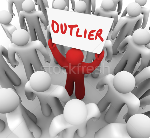Outlier Different Minority Response Statistical Anomaly Skew Res Stock photo © iqoncept