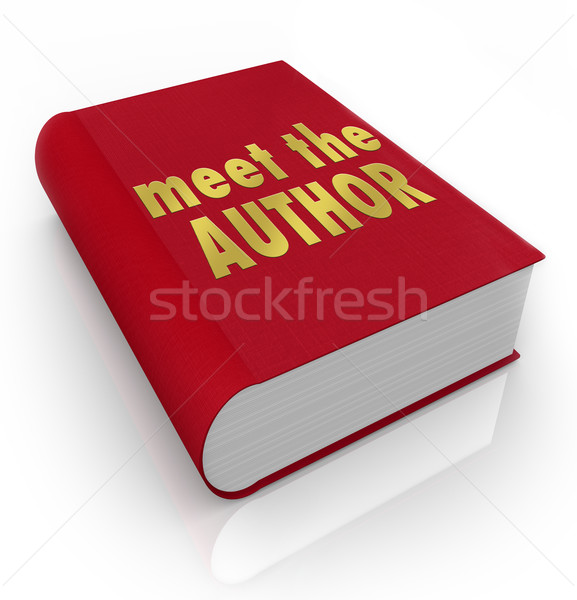 Meet the Author Book Cover Novelist Writer Reading Library Store Stock photo © iqoncept
