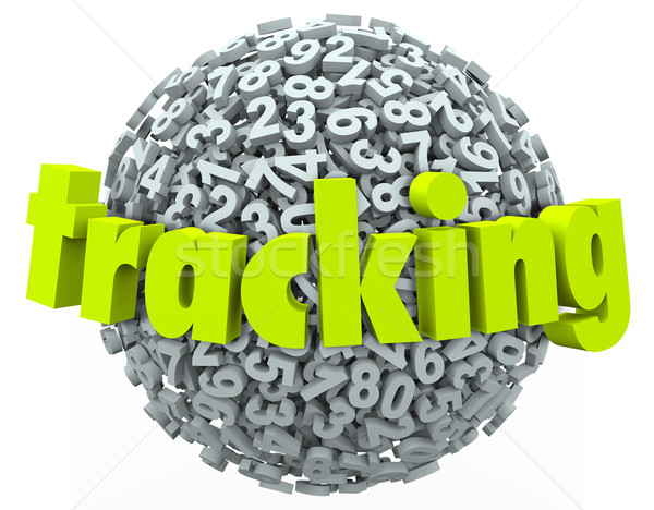 Tracking Word Numbers Online Data Information Order Finding Stock photo © iqoncept