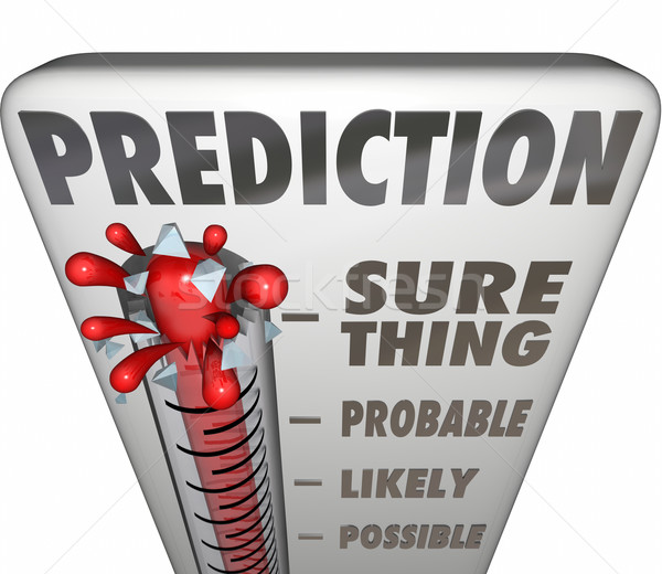 Prediction Thermometer Sure Thing Possible Probable Likely Outco Stock photo © iqoncept
