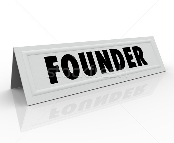 Founder Name Tent Card Company Business Owner Entrepreneur Stock photo © iqoncept