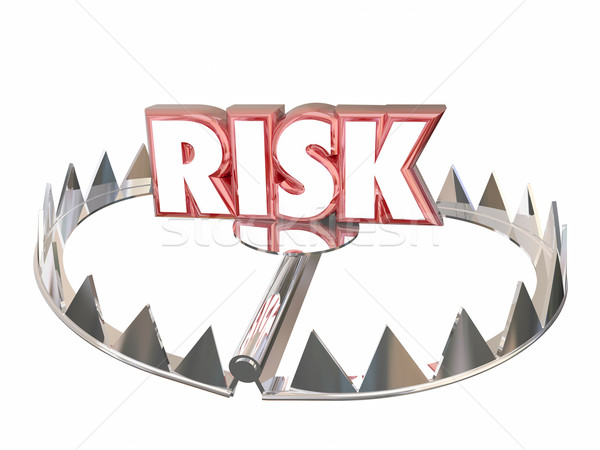 Risk Word Bear Trap Danger Liability Hazard 3d Stock photo © iqoncept