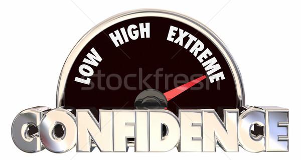 Fiducia alto convinzione fede bene atteggiamento Foto d'archivio © iqoncept