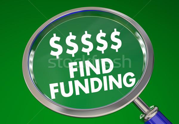 Encontrar dinheiro recursos negócio investimento de aumento Foto stock © iqoncept