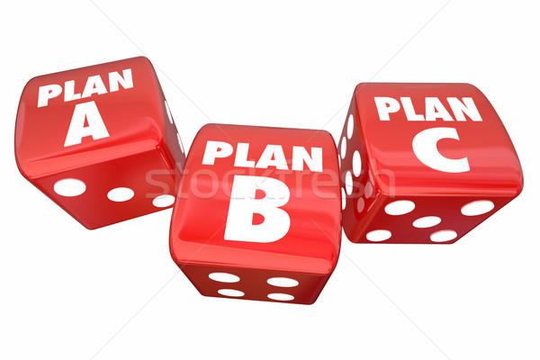 Plan A B C Dice Alternative Options Fall Back Contingency 3d Ill Stock photo © iqoncept