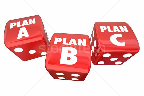 Foto stock: Plano · b · dados · alternativa · opções · cair · de · volta