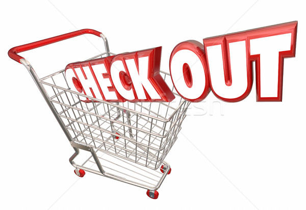 Check Out Shopping Cart Buy Purchase Store 3d Illustration Stock photo © iqoncept