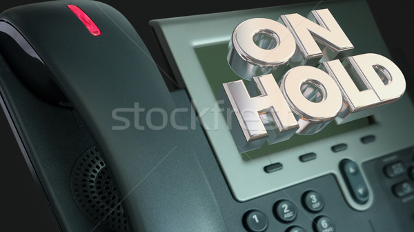Telephone On Hold Waiting Bad Customer Service 3d Illustration Stock photo © iqoncept