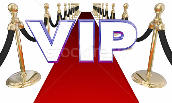 VIP Very Important Person Red Carpet Letters Event 3d Illustrati Stock photo © iqoncept