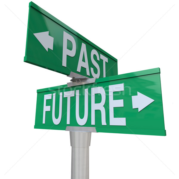 Past and Future - Two-Way Street Sign Stock photo © iqoncept