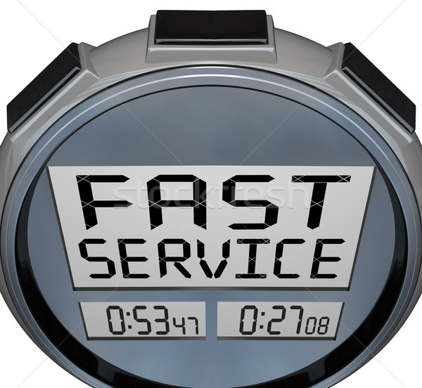 Fast Service - Words on Stopwatch for Customer Support Stock photo © iqoncept
