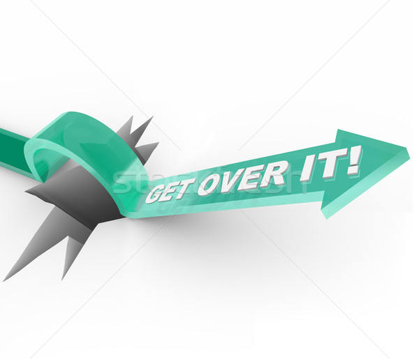 Get Over it - Overcoming a Challenge or Problem Stock photo © iqoncept