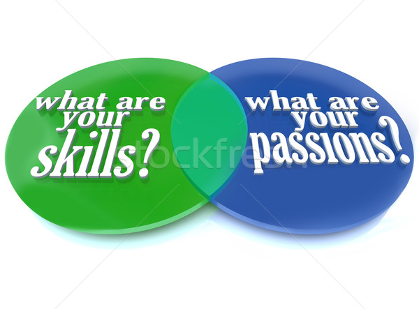 What are Your Skills and Passions - Venn Diagram Stock photo © iqoncept