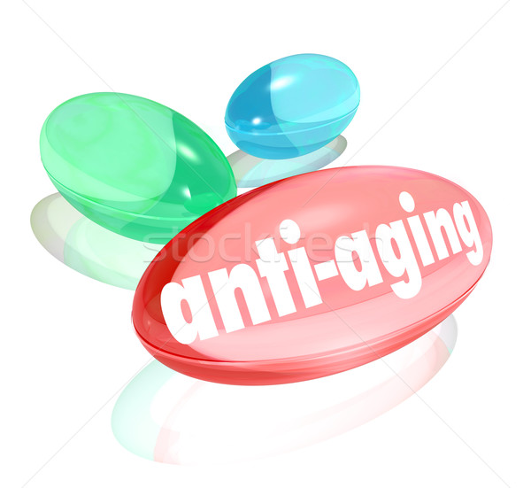Stock photo: Anti-Aging Pills Capsules Natural Organic Vitamin Youth
