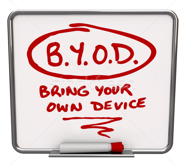 BYOD Message Board Company Policy Bring Your Own Device Stock photo © iqoncept