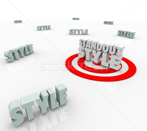 Standout Style Best Target Many Different Unique Trend Design Ch Stock photo © iqoncept
