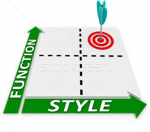 Style Vs Function Aesthetics or Practicality Matrix Choose Both Stock photo © iqoncept