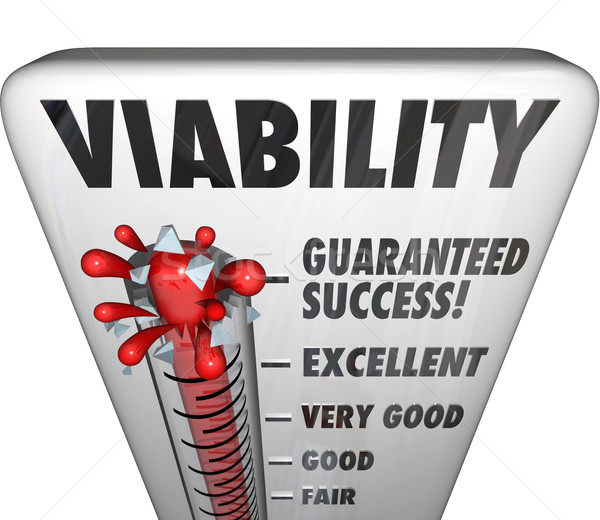 Stock photo: Viability Word Thermometer Potetential Success Business Measurem