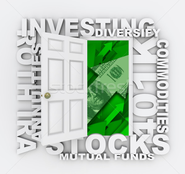 Investments - Open Door to Diversified Investing Growth Stock photo © iqoncept
