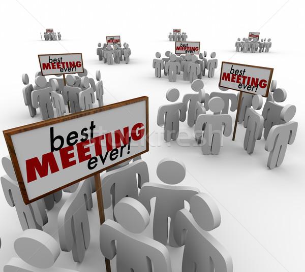 Mejor reunión grupos personas signos equipo Foto stock © iqoncept