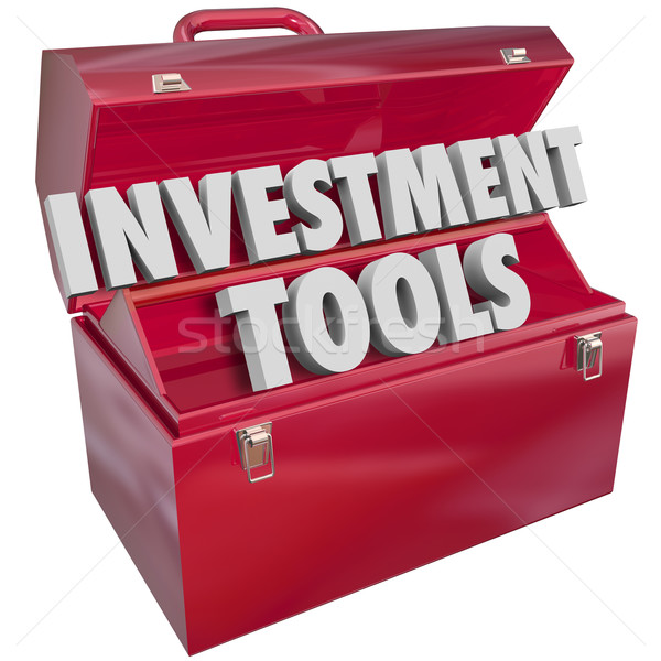 Investment Tools 3d Words Toolbox Finance Adviser Resources Stock photo © iqoncept
