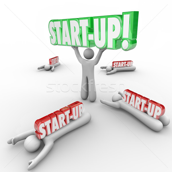 Start-Up Person Holding Word Best Business Person Entrepreneur W Stock photo © iqoncept