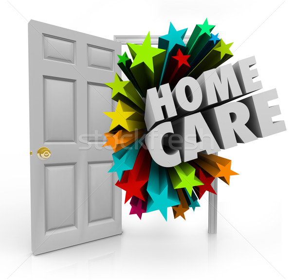 Home Care Open Door Hospice Physical Therapy Treatment House Cal Stock photo © iqoncept
