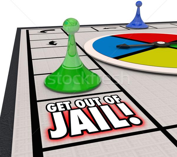 Na zewnątrz więzienia gra planszowa więzienia wolna uciec Zdjęcia stock © iqoncept