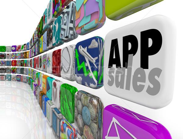 Applicazione vendite software app mobile Foto d'archivio © iqoncept