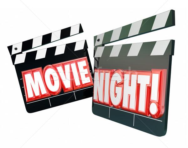 Movie Night Entertainment Date Romance Evening Watching Viewing  Stock photo © iqoncept